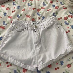 WHITE high Rose Princess Polly Shorts